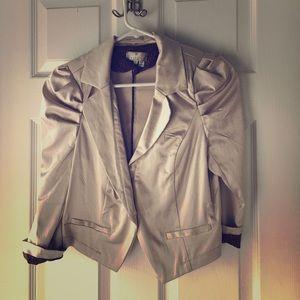 26 international Jackets & Blazers - Champagne colored silky cropped blazer