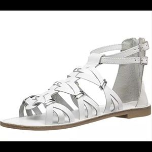 Very Volatile Shoes - Gladiator sandals women's 7 Roman White NEW IN BOX