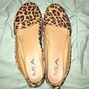 MIA cheetah print flats