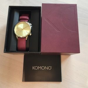 Komono Accessories - Komono Watch- new, Estelle burgundy
