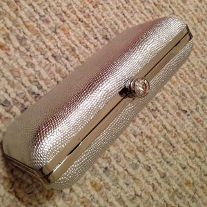 NWOT Silver Clutch by Victoria's Secret