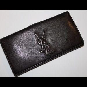 Yves Saint Laurent Handbags - Yves Saint Laurent YSL Brown Wallet