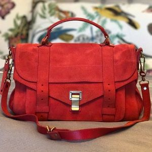 Proenza Schouler Handbags - SALE!! Proenza PS1 Medium Bag Red Suede