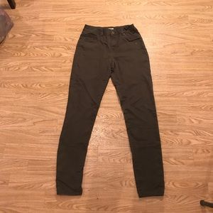 High Waist Army Green Jeggings