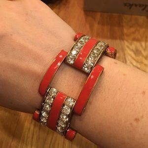 J.Crew Enamel and Glass Bracelet
