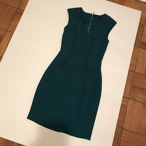 Forest green pencil dress