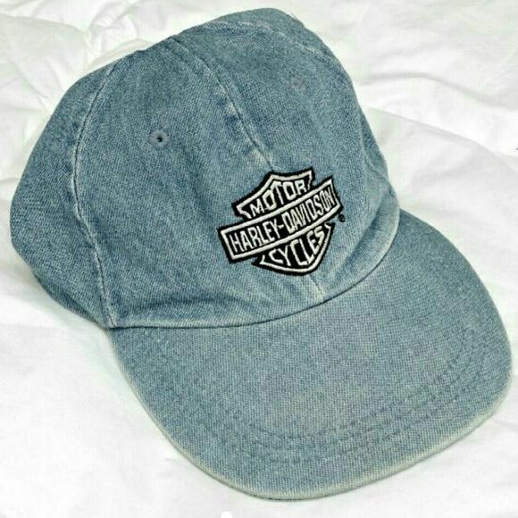 Harley-Davidson Accessories - Vintage Harley Davidson Dad Cap Hat Jean 4a381b54478