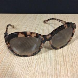 COACH peach tortoise sunglasses