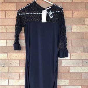 Bluebelle Dresses & Skirts - NWT navy maternity 3/4 length dress by Bluebelle