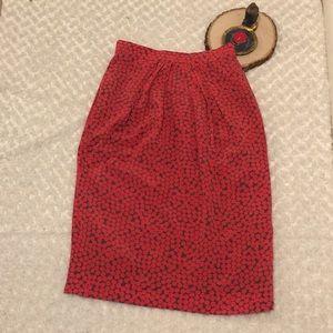 Micro Pleated  Silk Skirt