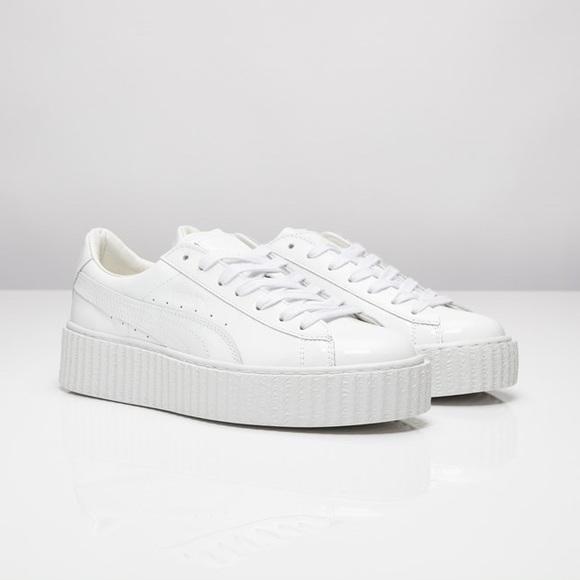 new products c14f5 8ae5a FENTY x PUMA Rihanna white leather creeper sneaker