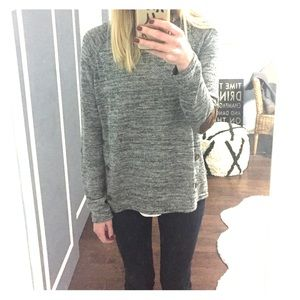 Gray marble knit sweater