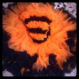Other - Girls Fancy Orange / Black Ruffle Dress