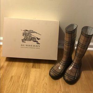 Burberry Classic Check Rain Boot
