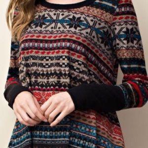 Tops - 📿Fair isle📿snowflake tunic blouse