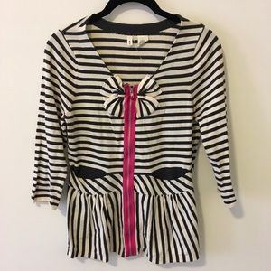 Anthropologie Sweaters - Moth Anthropologie Striped Bow Front Cardigan