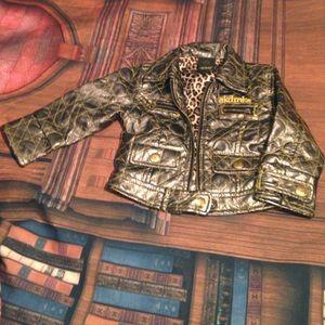 Akdmks faux leather coat