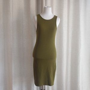 Dresses & Skirts - Ribbed Shaping Body Con Dress