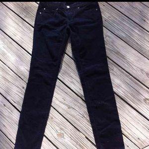 Gap blue velvet 1969 skinny jeans size 26