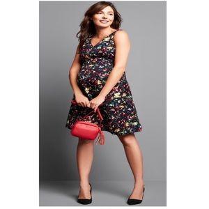 Gap Maternity multi-color v-neck confetti dress