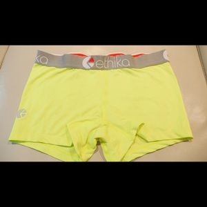 ethika Pants - Highlighter, neon green workout shorts