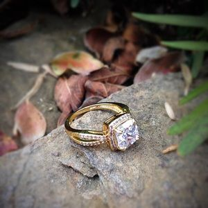 Jewelry - gold plated cubic zirconia ring
