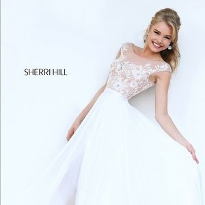 Sherri Hill Dresses & Skirts - WEEKEND SALE - SHERRI HILL WHITE GOWN