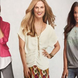 CAbi Front and Center Top cream