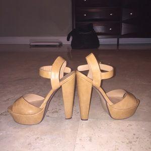 Shoes - Tan brown heels.