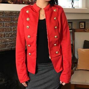 Zinga Jackets & Blazers - Amazing orange colored jacket w/ gold button.B062