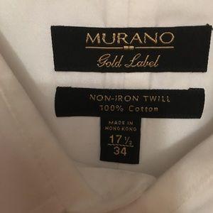 Murano Shirts - Men's White Dress Shirt