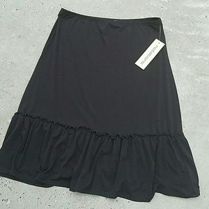 Notations Dresses & Skirts - NWT Notations black ruffle skirt