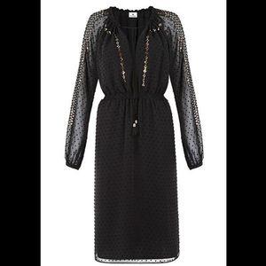Altuzarra Dresses & Skirts - Black Swiss Dot Peasant Dress