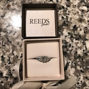 reeds Jewelry - Reeds aqua emerald cut ring