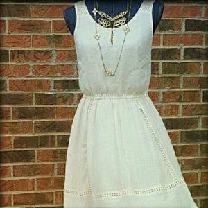 🎉LAUREN CONRAD New M Cream Pink Short Dress