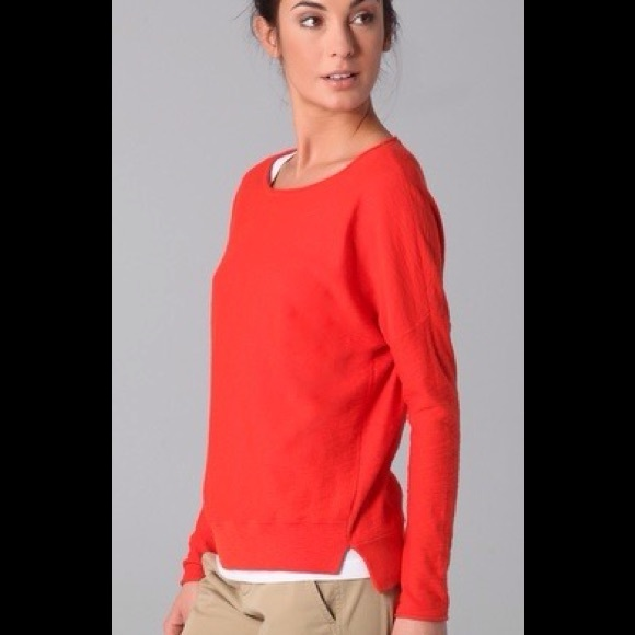 76% off Vince Sweaters - Vince Orange Cotton Sweater 💜 from Pam's ...