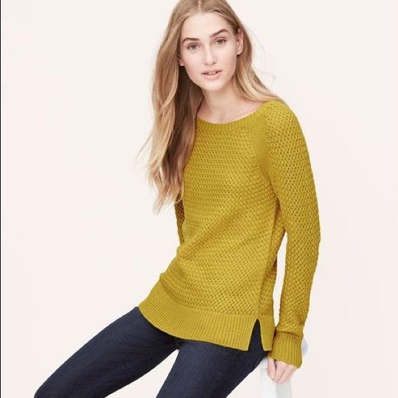 87% off LOFT Sweaters - Ann Taylor Loft open knit basket weave ...