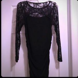 Dresses & Skirts - Black Long Lace Sleeve Dress
