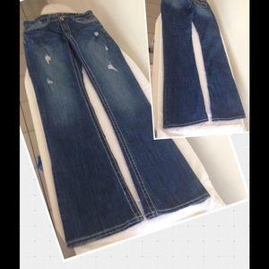 Hydraulic Denim - Hydraulic Destroyed W/Flap Pockets Boot Cut Jeans
