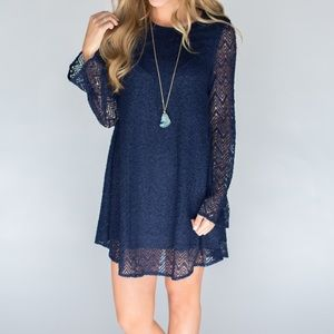 Magnolia Dresses & Skirts - Navy lace dress, small