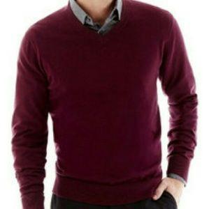 Claiborne Other - Men's v neck pull over burgundy sweater