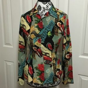 Nicole Miller Tops - Nicole Miller collection wonderful world silk top