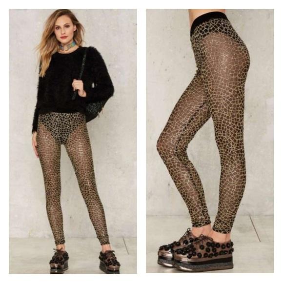 9e06824e1cc296 Jaded London Body Language Mesh Leggings Gold S. M_58783f6bfbf6f989e1012fac