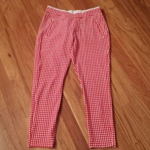 HUE Pants - HUE Checkered Knit Capri Leggings Sz Small