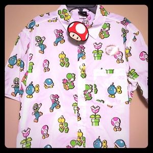 Nintendo Other - BRAND NEW Super Mario Bros Button-Up!!!