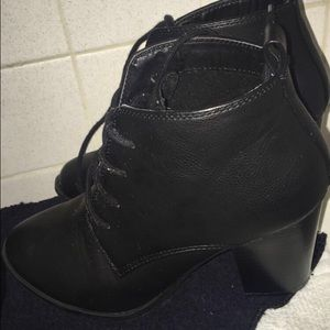 Forever21 leather booties