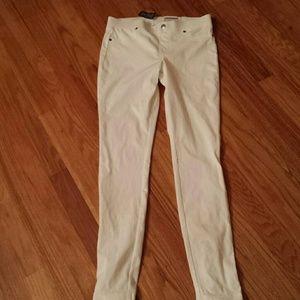 HUE Pants - HUE Lace Up Super Smooth Denim Leggings  Sz Small