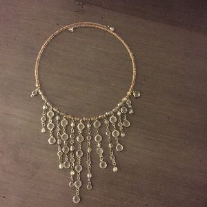 Clear beaded choker