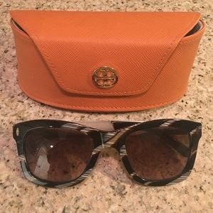 Tory Burch Square Wayfarer Sunglasses TY7042