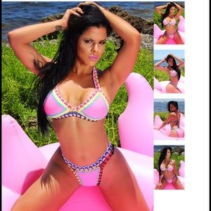 Fashion Miami Styles Other - Barbie Sunny Crochet neoprene bikini